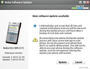 New Firmware v3.0633.69.00 For The E61i