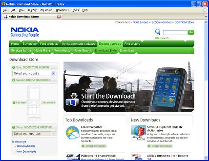 Nokia Download Store