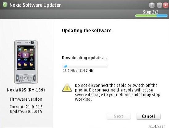 v30 n95 1 Nokia N95: New Firmware v.30.0.015