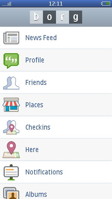 E71: First Look: Borg, A Promising Facebook Client For Symbian