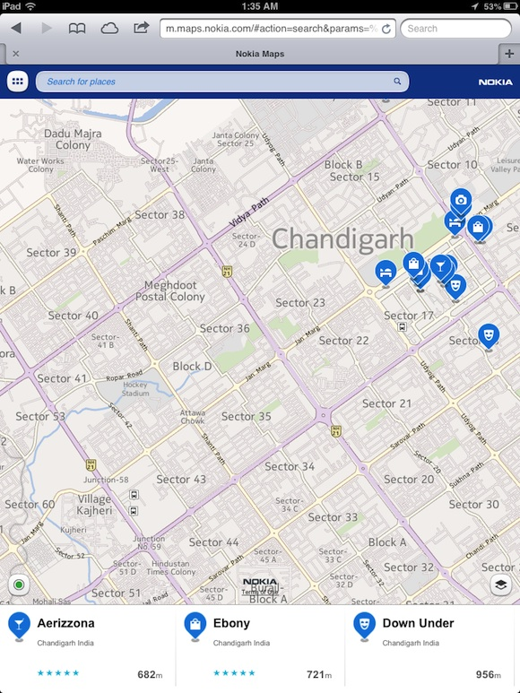 Nokia Maps iOS 6