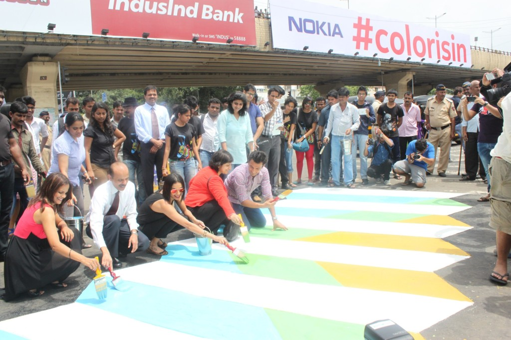 Nokia India Paints Zebra Crossings In Colour To Raise Awareness About Pedestrian Safety